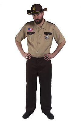 Gefängnis Kostüme (KOSTÜM SHERIFF GEFÄNGNIS HERREN FASCHING KARNEVAL VERKLEIDUNG COWBOY GESETZ )