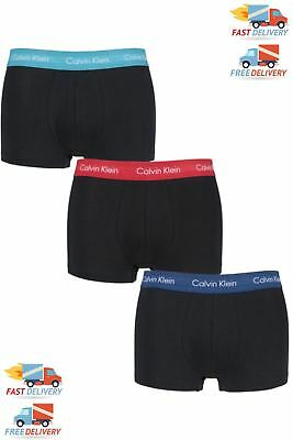Mens Calvin Klein Ck Boxer Low Rise Trunks Pack Of 3 Pro Stretch R B W M L