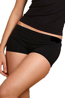 2 Damen Panties Hipster Pantys Boxershorts Unterwäsche Mikrofaser schwarz