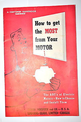 1954 How To Get The Most From Your Motor Abcs Of Motors Rr937 Craftsman