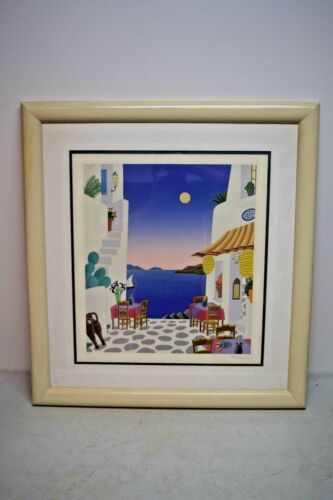 + Thomas Mcknight Hand Signed And Numbered Color Silk Screen + Framed + (jc1)