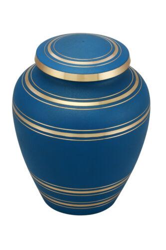 Elite Onyx Blue Cremation Urn - Adult Funeral Urn with Velvet Bag