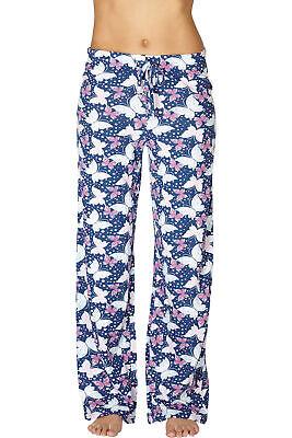 INTIMO Womens Butterfly Printed Pajama Sleep Pants