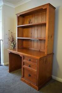 Desk & Hutch - Solid Timber. Richmond Hawkesbury Area Preview
