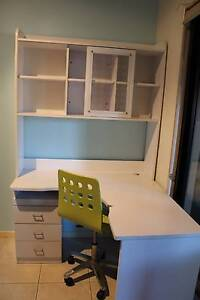 Desk with built in Drawers and Shelving / Storage Unit + Chair Cornubia Logan Area Preview