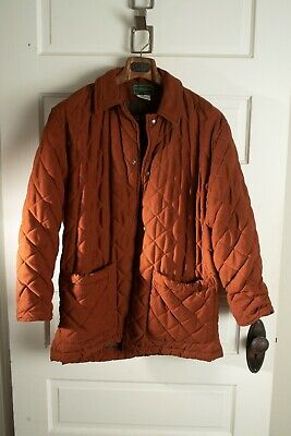 Holland and Holland Men's Orange Puffer Jacket Small (fits like Med)