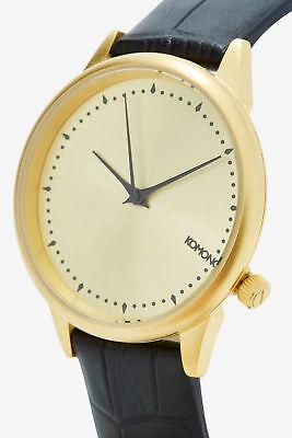 (Komono Estelle Monte Carlo Croc Leather Watch NEW MSRP: $100)