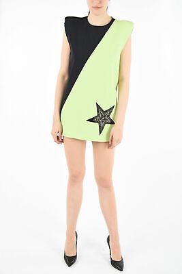 FAUSTO PUGLISI women Dresses Sz 40 IT Green Embellished Shift Pencil Mini Dre...