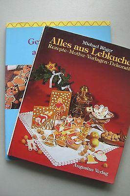 2 Bücher Alles aus Lebkuchen Rezepte Motive Vorlagen Gewürzkuchen aus aller Welt