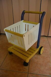 Kitchen / shopping toy - Santoys Wooden Shopping Trolley St Albans Brimbank Area Preview