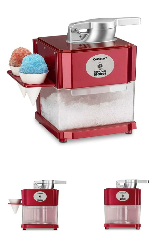 Snow Cone Maker Shaved Ice Machine Electric Crusher Red Soft Fine Home Cuisinart