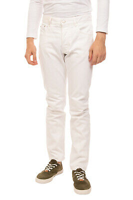 RRP €135 AMI ALEXANDRE MATTIUSSI Jeans Size 32 White Button Fly Made in Portugal