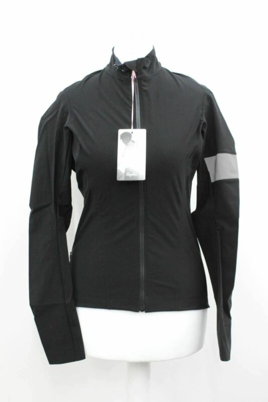 RAPHA Ladies Black Souplesse Long Sleeve Zip Up Shadow Cycling Jersey S BNWT