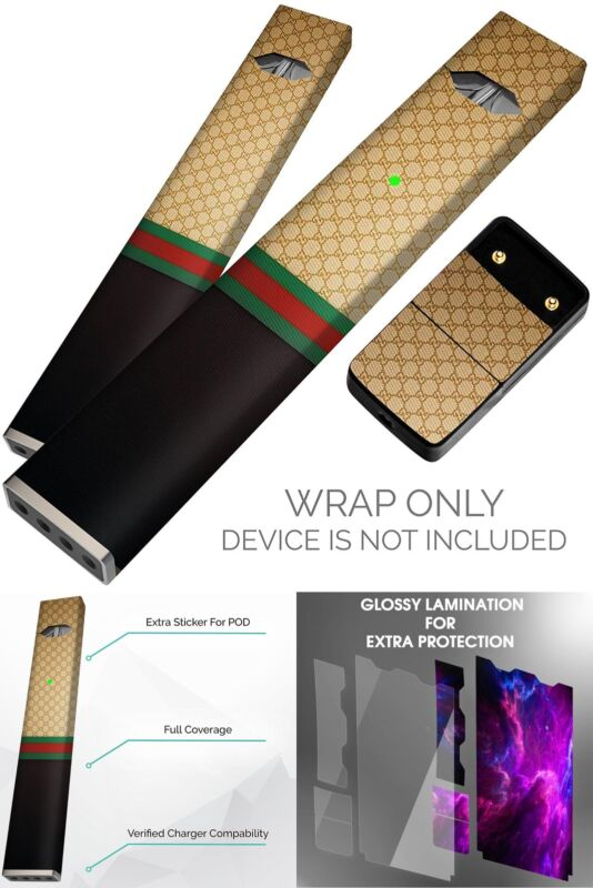 ;Gucci Pattern Original Skin Decal for PAX JUUL Protective Sticker Wrap Tax Free
