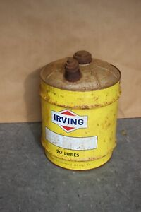 Vintage IRVING Gas Station  20 Liters Oil Can Canister $75
