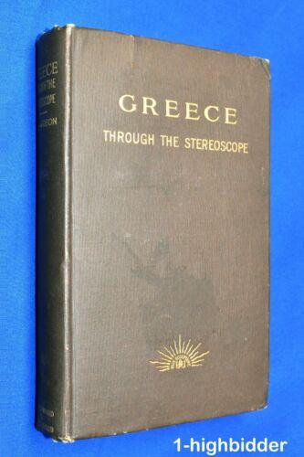 Antique 1900 GREECE Through Stereoscope Book Stereoview Underwood 100 Card Set