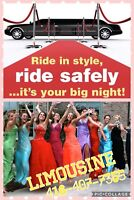 Durham region limousine packages 299 to 499 416-407-7355