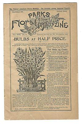 1894 Parks Floral Park Magazine Libonia Pa Nursery Bulbs Horticulture Geo Park