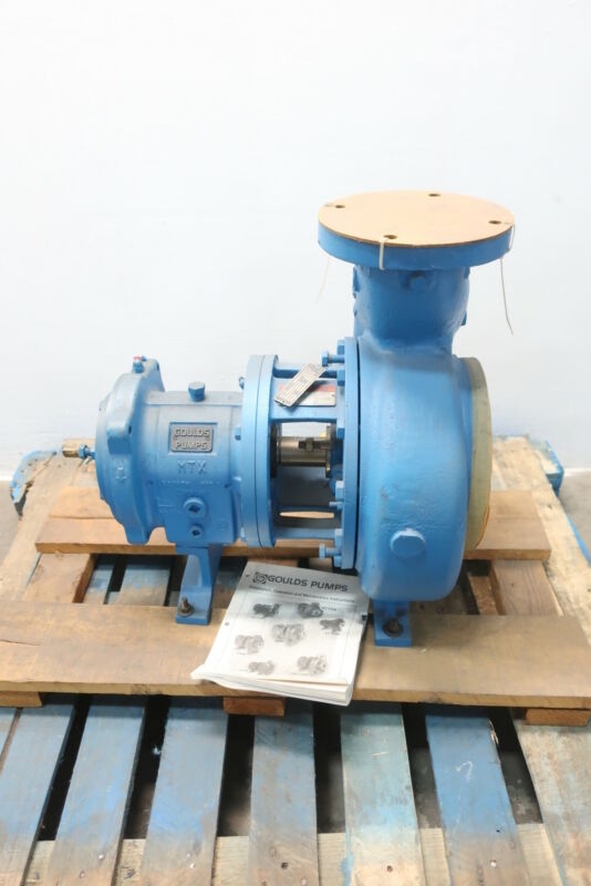 Gould 3196 MTX Centrifugal Pump 4x6-10h 4in 800gpm 65ft 8.875in 1-1/8in 6in