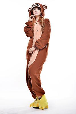Monkey Adult Pajamas Christmas Kigurumi Animal Cosplay Costume Onesie0 Sleepwear - Monkey Onesie