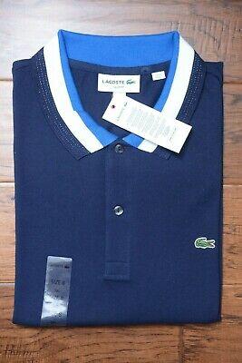 Lacoste PH2011 Hombre Ajustado Azul Marino/Zafiro Algodón Polo de Golf 3XL Eu 8