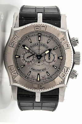 Roger Dubuis RARE VERSION Easy Diver 18k Gold SS Mens Automatic Watch