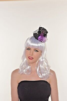 Mini Halloween Skeleton Hand Top Hat Hair Clip-on Feather Party Hat