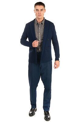 RRP €210 PAOLO PECORA Blazer Jacket Size 48 / M Textured Peak Lapel Collar