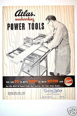 Atlas Woodworking Power Tools Catalog No. W55 1954 Rr172 Saw Drill Jointer