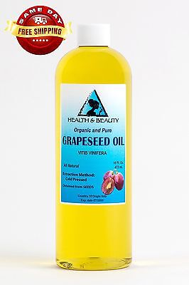 GRAPESEED OIL ORGANIC CARRIER COLD PRESSED 100% PURE 16 OZ