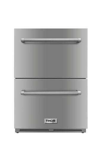 """24"""" Thor Kitchen HRF2401U Under Counter Built-in Outdoor D"""