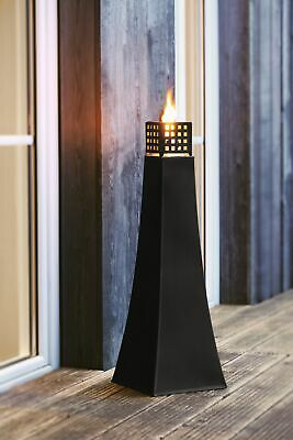große Metall Öl Lampe schwarz Garten Terrasse Fackel Windlicht Laterne XXL Lampe