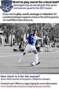 Kensington Soccer Club - LOOKING FOR PLAYERS, COACHES, VOLUNTEERS Kensington Melbourne City Preview