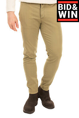 RRP €130 BRIGLIA 1949 Chino Trousers Size 47 / M Garment Dye Textured Button Fly