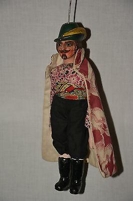 Seltene Waidmann Marionette Jäger Stabmarionette Theater String Puppet Theatre
