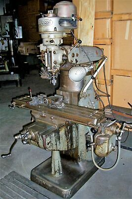 Bridgeport Vertical Milling Machine Model 9brj W9x 42 Table 1 Hp J Head