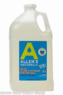 Allens Naturally Detergent - ALLENS NATURALLY DIAPER WASHING LIQUID LAUNDRY DETERGENT 1 GAL DISPENSING PUMP
