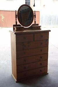 Good condition 7 drawers solid tallboy&mirror can deliver Parramatta Parramatta Area Preview
