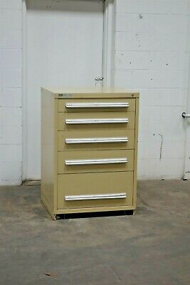 Used Stanley Vidmar 5 Drawer Cabinet 44 Inch Tall Industrial Tool Storage 1822