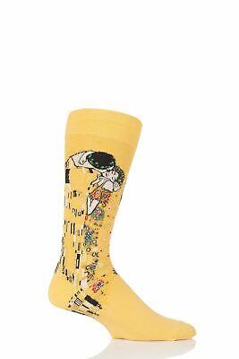 Mens 1 Pair HotSox Artist Collection The Kiss Cotton Socks