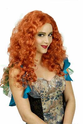 Perücke Milva Lockenperücke rothaarig Reh Meerjungfrau Hippie Karneval Fasching