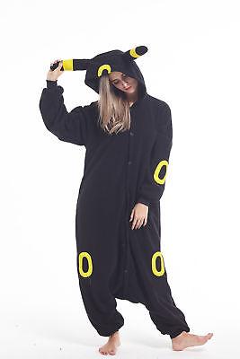 sqlszt Women men Adult Unisex Kigurumi Umbreon Onesie0 Pajama Cosplay Costume