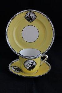 Antique Foley China England Silhouette TRIO TEA CUP SAUCER & DESSERT PLATE