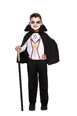 Vampire Fancy Dress Up Costume Child Halloween Outfit Party Boy NEW