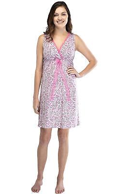 Intimo Womens Print Cotton Knit Tank Nightgown