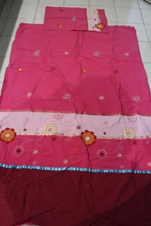 Pink single bed doona ideal for little girls room