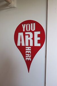 You Are Here wall hanging