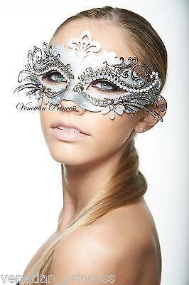 Elegant Silver Laser Cut Venetian Mardi Gras Masquerade Mask MEP001SL BRAND NEW! (Elegant Masquerade Masks)