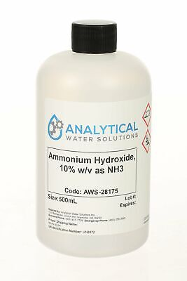 Ammonium Hydroxide 10 Wv As Nh3