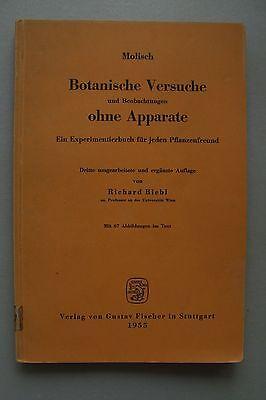 Botanische Versuche Beobachtungen ohne Apparate Experimentierbuch Pflanzenfreund
